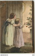 N°16286 - Heureuse Année - Deux Fillettes Regardant Un Sapin - Anno Nuovo