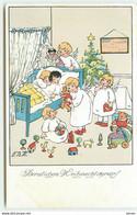 N°17432 - F.B.H. - Herzlichen Weihnachtsgruss - Anges Jouant Dans Une Chambre D'enfants - Teddy Bear - Altri