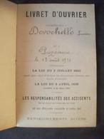 Livret D'Ouvrier Lucien Desrochelle Puzeaux Somme Péronne 1910 Apprenti Ajusteur Tergnier Chemin De Fer Du Nord - Zonder Classificatie