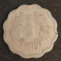 TURQUIE - TURKEY - 1 KURUS 1939 - KM 867 - Turkey