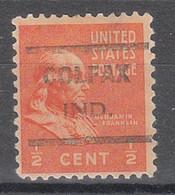 USA Precancel Vorausentwertungen Preos, Locals Indiana, Colfax 621 - Préoblitérés
