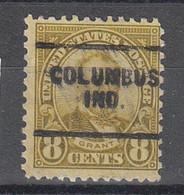USA Precancel Vorausentwertungen Preos, Locals Indiana, Columbus 640-703 - Préoblitérés