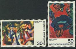 816-817 Expressionismus II 1974: August Macke Und Erich Heckel, Satz ** - Ohne Zuordnung