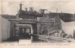 PARIS- INONDATIONS, JANVIER 1910 RUE WATT XIIIe ARR LA LIGNE D'ORLEANS - Inondations De 1910
