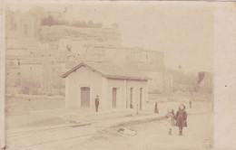 (32)    Carte Photo GRIGNAN - La Gare - Grignan