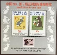 Pitcairn Islands 1996 China Year Of The Rat Minisheet MNH - Pitcairneilanden