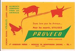 Buvard  PROVECO - Aliments Composés Pour Les Animaux - Ets Chirouze Frères - Moulin De Montvendre - - Animals