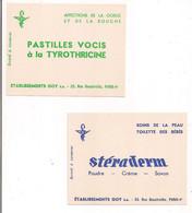 Buvards Etablissemnts GOY 23 Rue Beautreillis, Paris 4e : Pastilles Vocis à La Tyrothricine  Et Stéraderm - - Chemist's