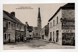 - CPA HÉRIC (44) - La Grande-Rue Et Le Clocher (avec Personnages) - Edition Chapeau N° 1 - - Other Municipalities