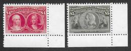 ETATS-UNIS 1893 YT 95/96 - SCOTT 244/245 - ISABELLA AND COLUMBUS - COPIE/FAUX - Vari