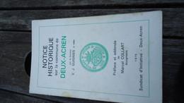 Notice Historique Sur La Commune De Deux-Acren - Par Le Docteur V.J. Guignies (voir Détails) - Belgio