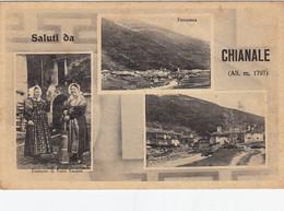 CHIANALE-CUNEO-SALUTI DA..-MULTIVEDUTE-CARTOLINA VIAGGIATA IL 23-7-1949 - Cuneo