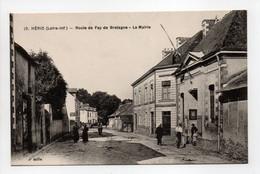 - CPA HÉRIC (44) - Route De Fay De Bretagne - La Mairie (avec Personnages) - Edition Chapeau N° 10 - - Other Municipalities