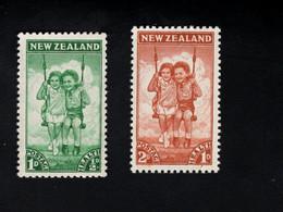 1348218395  1942 SCOTT B20 B21 (XX) POSTFRIS MINT NEVER HINGED POSTFRISCH EINWANDFREI  -  CHILDREN IN SWING - Unused Stamps