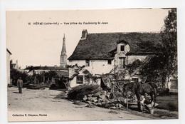 - CPA HÉRIC (44) - Vue Prise Du Faubourg St Jean (avec Personnages) - Edition Chapeau N° 12 - - Other Municipalities