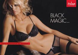 Carte Publicitaire Lingerie Féminine - Triumph Black Magic  - Femme - Charme - Sexy - 07/2005 - Reclame
