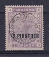 British Levant: 1885/88   QV    SG3a   12pi On 2/6d   [white Paper]  Used - Levante Británica