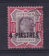 British Levant: 1887/96   QV    SG6   4pi On 10d  Dull Purple & Carmine  Used - Levante Británica