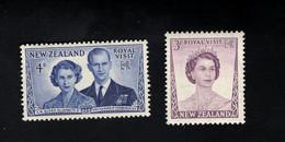 1348220723  1953 SCOTT 286 287 (XX) POSTFRIS MINT NEVER HINGED POSTFRISCH EINWANDFREI  -  QUEEN ELIZABETH II AND DUKE - Unused Stamps