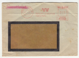 Philipp M. Winter, Fürth Meter Stamp On Letter Cover Posted 1944 B210915 - Cartas