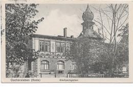 Oschersleben (Bode), Stadtparkgarten, Feldpost 1915 - Vereinslazarett Rotes Kreuz - Oschersleben