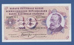 SWITZERLAND - P.45u(1) – 10 Francs 06.01.1977 VF/XF  Serie 99S 037348 - Switzerland