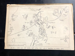 Vietnam North Map Of Targets That Fought Vietnam South And America Before 1954-and- 1975-table Print Positions( So Do Ca - Topographical Maps