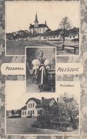 Repubblica Ceca  - Polesovic  - Pozdravz Polesovic  -  2 Vedute + Costume - F. Piccolo - Viagg - Molto Bella - Czech Republic