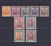 NEW ZEALAND 1947/52, SG# 680-689, Part Set, KGVI, MH - Unused Stamps
