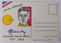 Nicolas FRANTZ - Signé / Dédicace Authentique / Autographe - Wielrennen