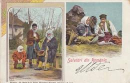 Romania - Salutàri Din Romània - Tzigani - F. Piccolo - Viagg - Splendida  - Acquerellata - Romania