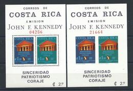 Costa Rica Bloc N°8* (MH) N. Dentelé Et Dentelé 1965 - John F. Kennedy - Costa Rica