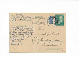 Ganzsachenkarte Aus Frankfurt 1949 - Cartas
