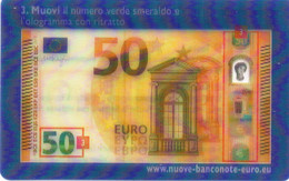 ITALY - OLOGRAPHIC 3D CARD - EURO BANKNOTE CHECK - Other