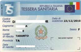 ITALY - REPUBBLICA ITALIANA - TESSERA SANITARIA - HEALTH CARD - YEAR 2010 - MAGNETIC CARD - Other