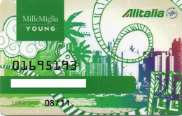 ITALY - MEMBERSHIP CARD - AIRLINES - ALITALIA MILLE MIGLIA YOUNG - SKYTEAM - MAGNETIC CARD - Other
