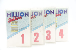 Music : Cassette : Hits Collection ' Million Sellers Hits ' Set Of 4 - 1991 - Rock / POP - Oleo