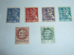 TIMBRES DE FRANCE - LIBERATION DE NICE SERIE N°1/6 - TIMBRES NEUF AVEC CHARNIERES - STAMPS FRENCH (V) - Liberation