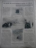 1906 UN RAID EN AUTOMOBILE DANS LA NEIGE - COL BAYARD - LA MURE - CORPS - ROUTE DE BRIANÇON À GAP - 1900 - 1949