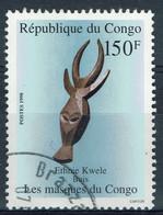 Congo (Brazzaville), 150f, Masque, Ethnie Kwele, 1998, Obl TB - Gebraucht