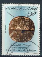 Congo (Brazzaville), 205f, Masque, Ethnie Teke/Tsangui, 1998, Obl TB - Gebraucht