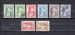 Grecia   1917 .-   Y&T  Nº   259/264-266/267 - Gebruikt