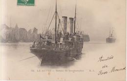 Le Havre Bateau De Southampton   Carte Postale Animee 1908 - Port