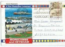 United Kingdom - 6 View Photocolour Lettercard - Morecambe And Heysham,via Yugoslavia,stamp Motive Map,Greenwich - Other