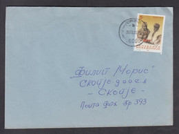 REPUBLIC OF MACEDONIA, COVER, MICHEL 195 - EASTER, Religion, Christianity, Orthodox + - Mazedonien
