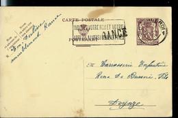 Carte N° 130.I.FN.   Obl. CHARLEROI 09/11/49  + Griffe De RANCE - Postcards [1934-51]