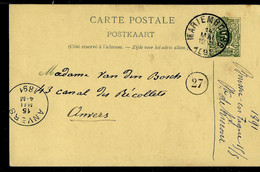 Carte N° 19.B. II.  Obl. MARIEMBOURG 14/05/1891 - Postcards [1871-09]