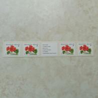 Belgique Belgie Bande Rouleau R 90 Parfait Etat Mnh ** ( R 90 A Et B Se Tenant ) Buzin Geranium - Francobolli In Bobina