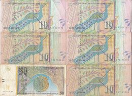 Macedonia - MACEDOINE 6 Billets 10 Et 50 Denari 1996 - 1997 - 2001 P.14a - P.14b - P.15a - Macedonia