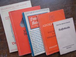 Deutschland 1933-45; Dritte Reich NSDAP Konvolut; 5x Versch.Bueche - Old Books